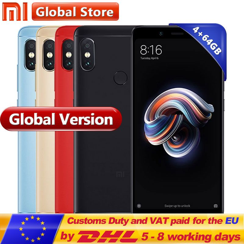 Original Global Version Xiaomi Redmi Note 5 4GB 64GB Cellphone Snapdragon S636 Octa Core 4000mAh 5.99