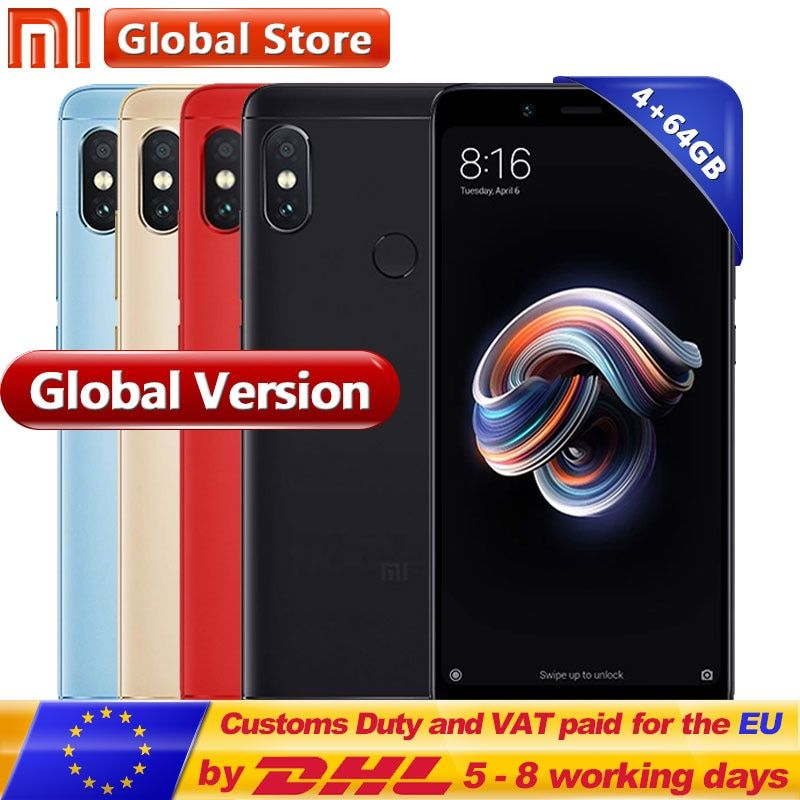 Original Global Version Xiaomi Redmi Note 5 4GB 64GB Cellphone Snapdragon S636 Octa Core 4000mAh 5.99
