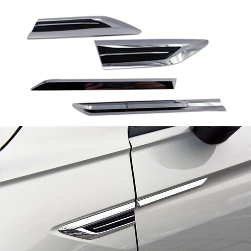 Accessoires pour Volkswagen Tiguan 2017 2018 2019 porte côté évent aile garde-boue emblème Badge autocollant garniture 4 pièces