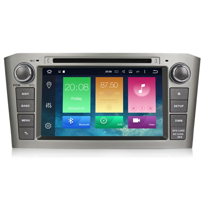 Factory Price Car Multimedia player 2 din Auto DVD android 6.0 7 Inch For Toyota/Avensis T25 2003-2008 Quad Cores Radio FM GPS