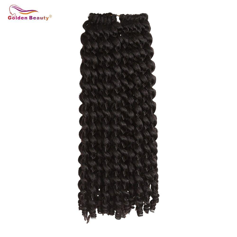 14 pouces Jamaïcain Rebond Crochet Cheveux Curl Crotchet Synthétique Extensions de Cheveux Résistant À La Chaleur Ombre Tressage Cheveux D'or Beauté
