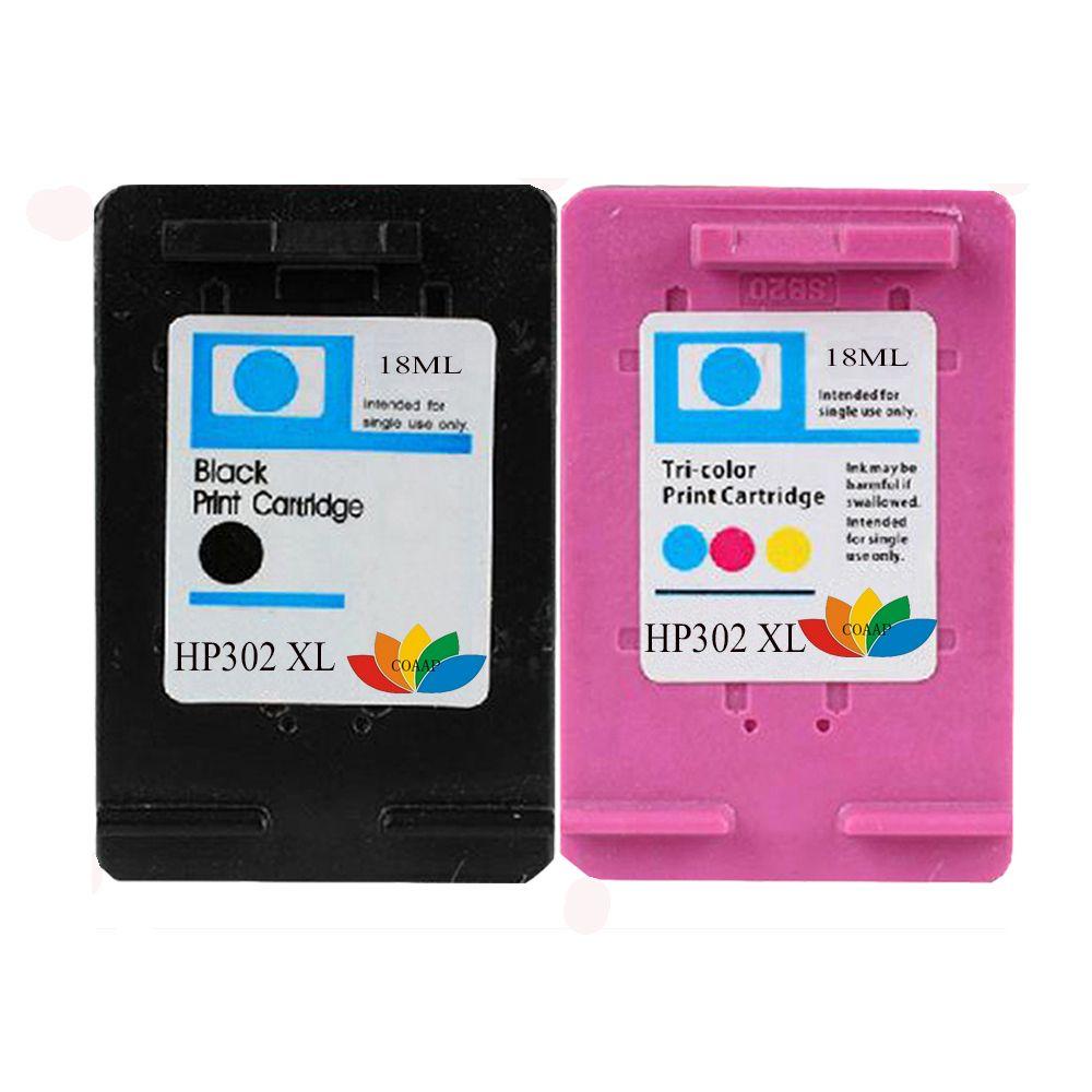 2-Pack Ink Cartridges Compatible with Hp 302 XL 302XL HP DeskJet 1110 2130 3630 Envy 4520 4524 OfficeJet 3830 4650 3800 hp302