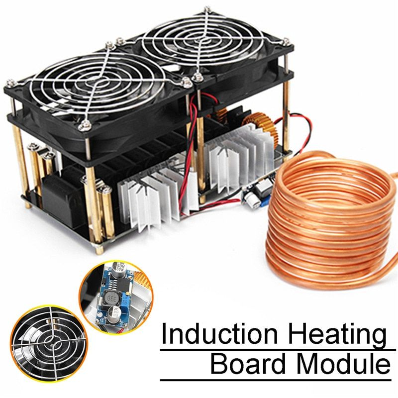 1800W ZVS Induction Heating Board Module Flyback Driver Heater With for Tesla coil Fan Instrument Parts & Accessories