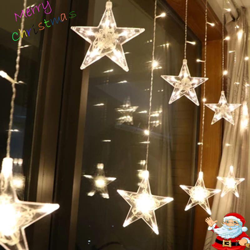 Led De Noël Cordes Guirlande lumineuse Extérieure AC220V UE Plug Guirlande Lampe Décorations pour La Maison Garden Party De Mariage De Vacances éclairage