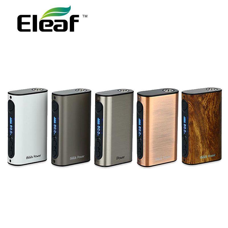100% Original Eleaf iPower 80 Watt Box MOD mit 5000 mah Eingebaute Batterie Temperaturkontrolle E zigarette Mod Erweiterbare firmware verdampfer