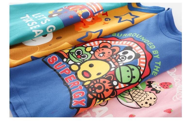 Gute Qualität T-shirt Mode Lässig Kurzarm Nette Baumwolle Material kleine größe