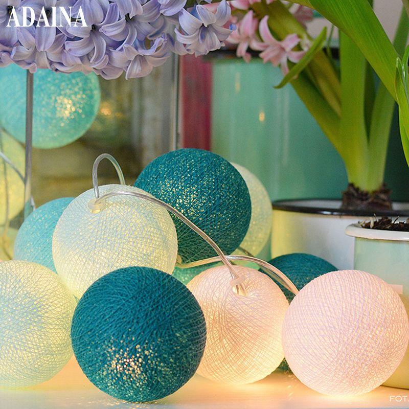 Batterie 5 M 35 boule de coton noël fée chaîne lumières décoration de la maison Fiestas lampe guirlande bande éclairage mariage luminarias