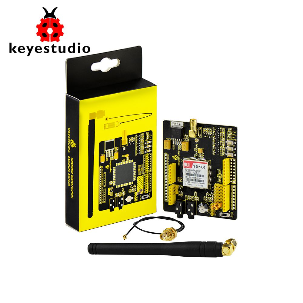Keyestudio SIM900 GSM GPRS module shields for Arduino UNO and Mega / Leonardo wireless module with extension wire
