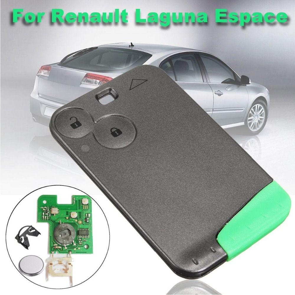New Dark Grey 2 Button Lock Unlock Remote Key Card w/ Circuit Board For Renault Laguna Espace