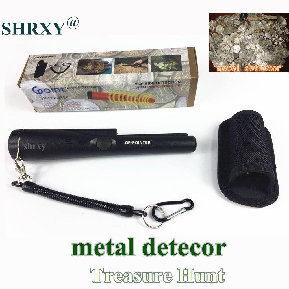 2019 Mis À Jour Sensible Shrxy Détecteur De Métal GP Pointer Pinpointing Hand Held Metal Detector Or résistant à L'eau avec Bracelet
