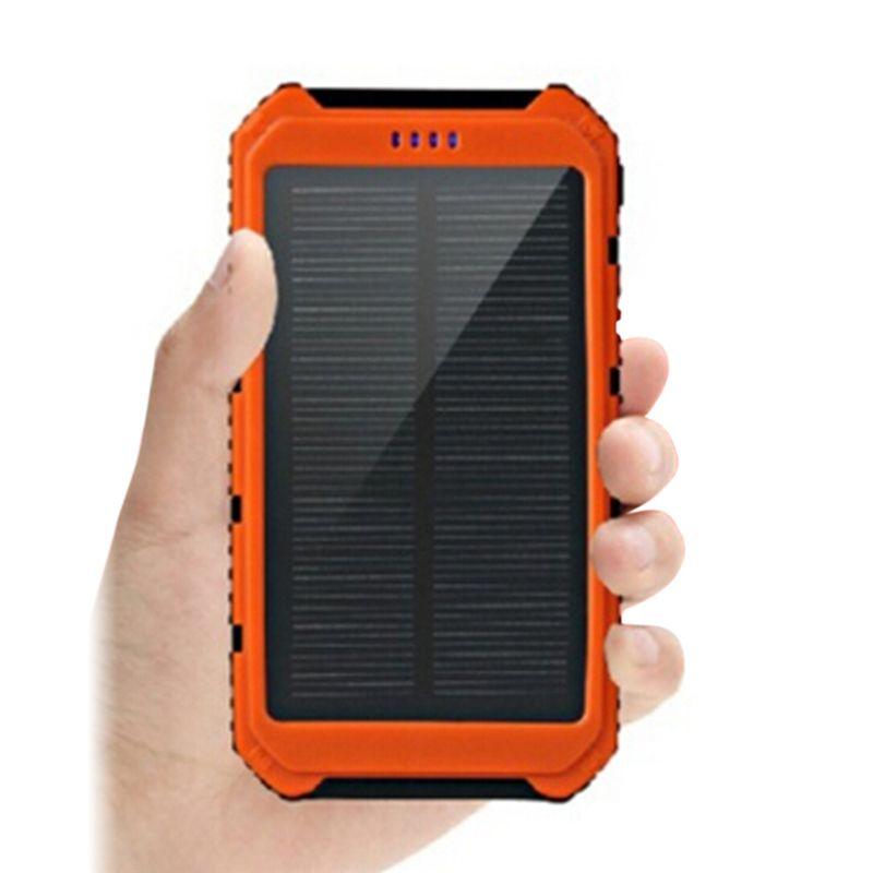 hot sale 10000mAh Solar Power Bank Dual USB Universal Solar Charger Battery Charger Powerbank for Phone Fast Shipping