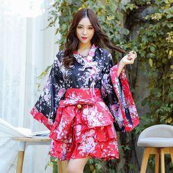 De femmes Sexy Sakura Anime Costume Japonais Kimono Costume Vintage Tradition D'origine Yukata Robe M-XXL