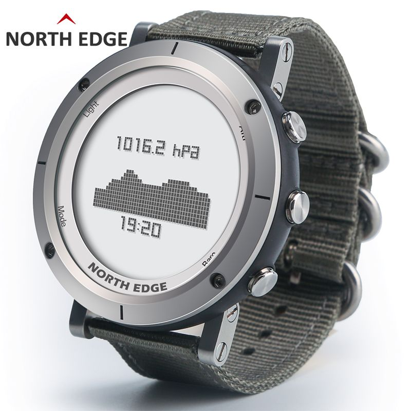 Smart watches Men outdoor sports watch waterproof 50m fishing Altimeter Barometer <font><b>Thermometer</b></font> Compass Altitude hours NORTH EDGE