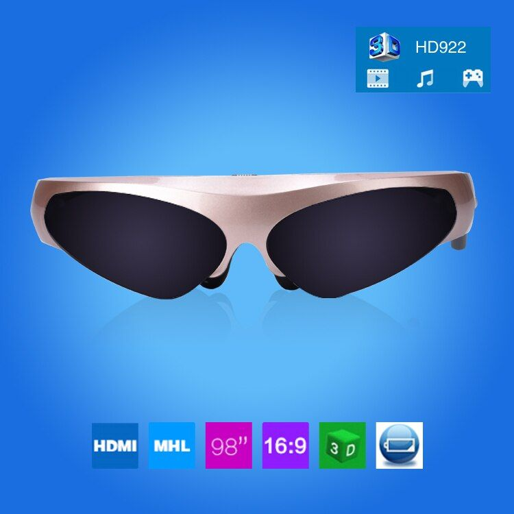 Free Shipping!!New Arrival 98 Inch 3D Virtual Reality Wide Screen Digital Video Glasses Eyewear Support Connect IOS&Android FPV