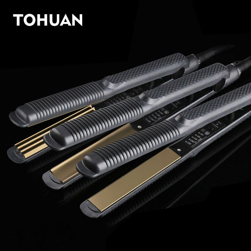 Professionelle Elektronische Haarglätter Werkzeuge Richt Wellblech 110-220 V Wellen Crimpen Chapinha Flache Eisen