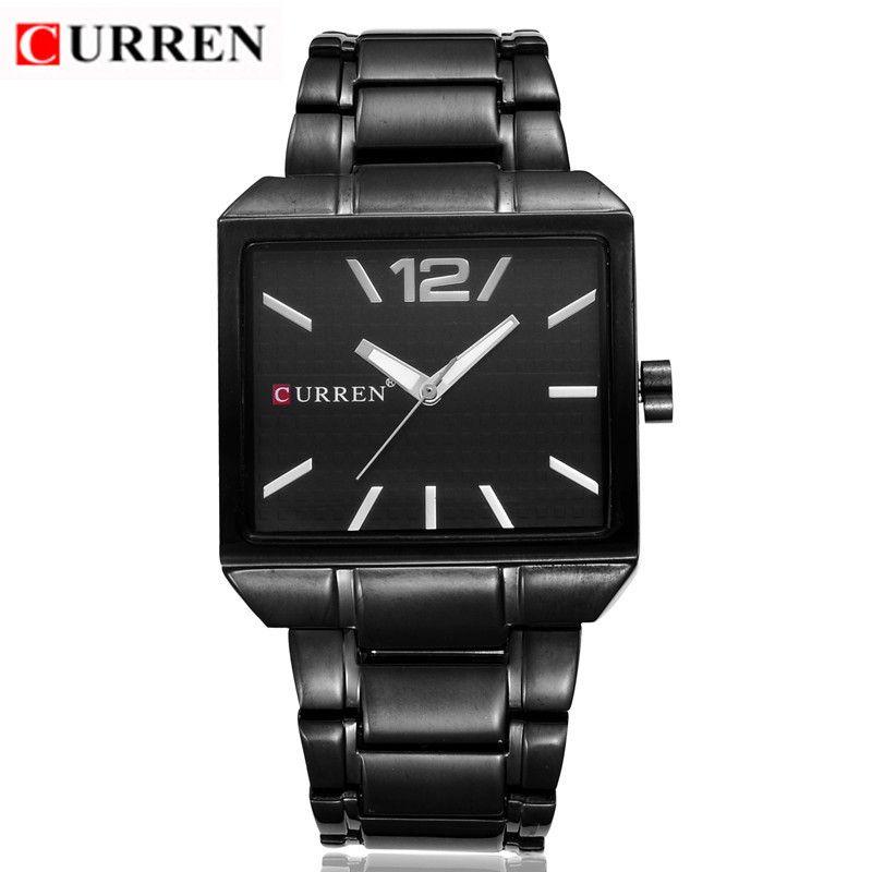Curren 8132 Для мужчин новая мода Спортивные часы, Кварцевые Аналоговый человек Бизнес качество все Сталь часы 3 АТМ Водонепроницаемый