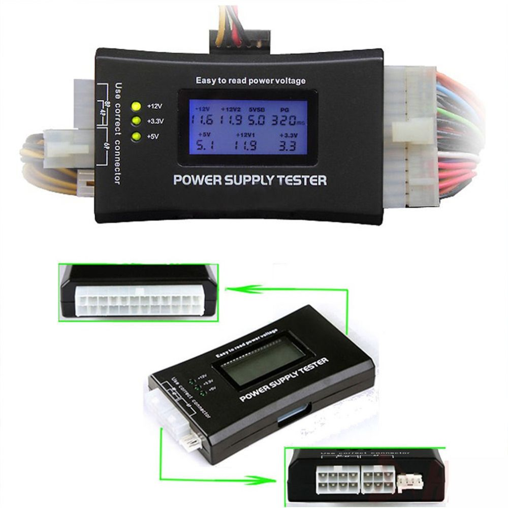 NEW Power Supply Tester for LCD Computer Power Supply Diagnostic Tester PC-power Supply/ATX /BTX /ITX Compliant