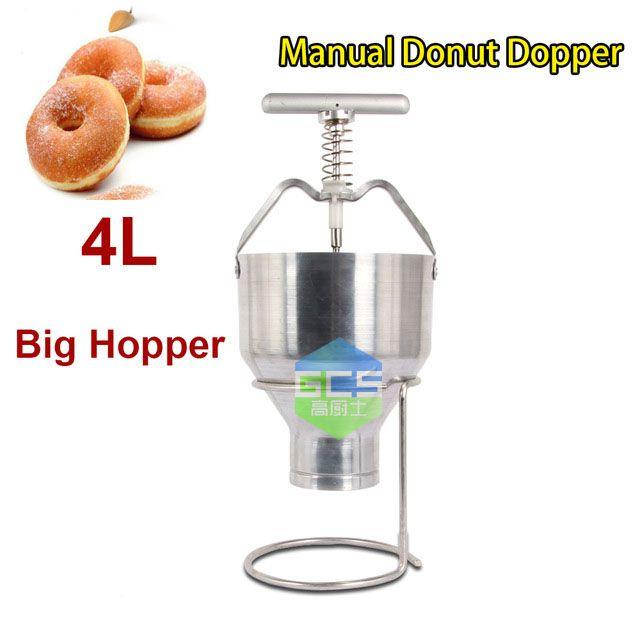 Free Shipping The Manual Donut Maker 4L Big Hopper Donut Dispenser Sweet Circle Machine