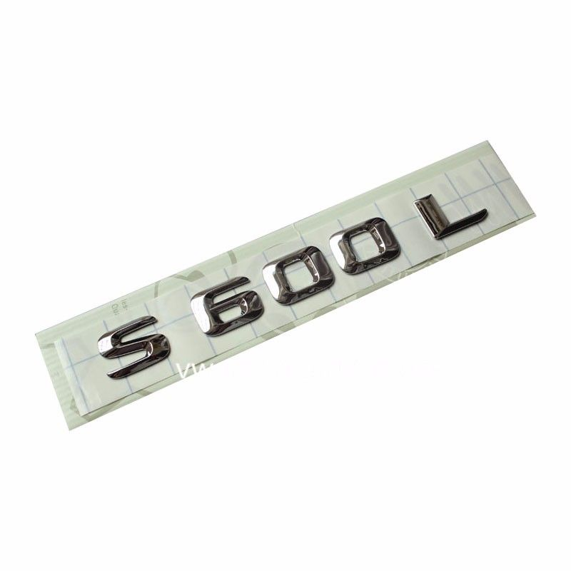 Free shipment for S 600 Number Letters Trunk Emblem Decal Sticker for Mercedes S Class S600
