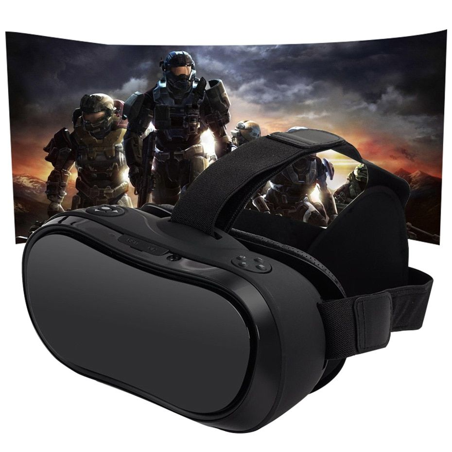 VR Box 3D Virtual PC Glasses All In One Virtual Reality Glasses 2560*1440 for PC PS 4 Xbox One Host 5.5 Inch Screen FHD Display