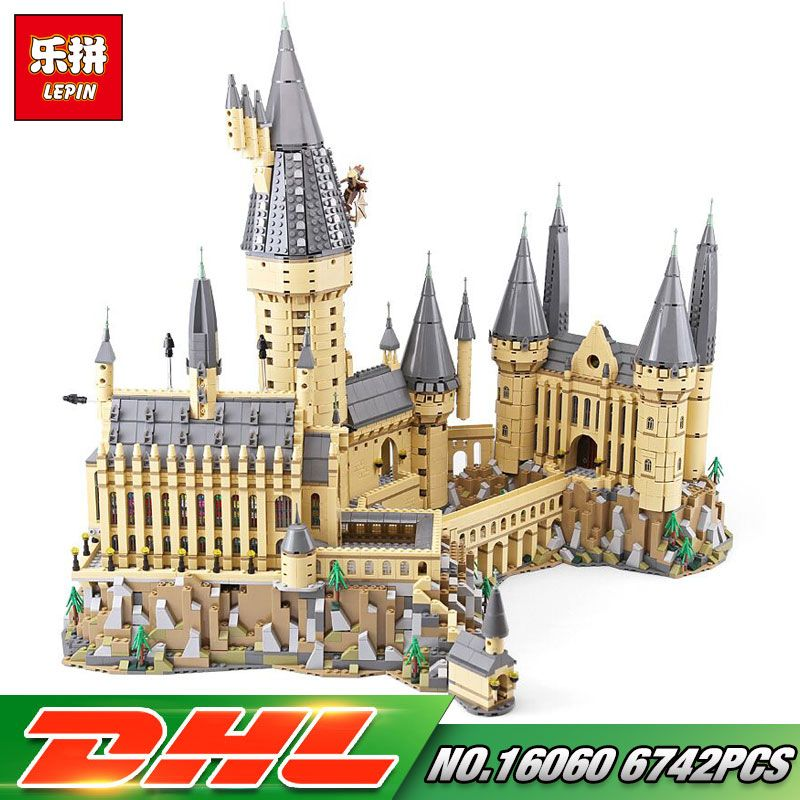 Lepin 16060 Harry Movie Potter Series The 71043 Hogwarts Castle Set Building Blocks Bricks Kids Toys House Model Christmas Gifts