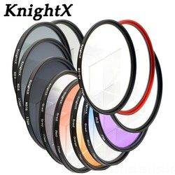 KnightX ND FLD UV MC Stern objektiv farbe filter 52mm 58 67 55 77mm für Nikon Canon EOS 7D 5D 6D 50D 60D 600D d5200 d3300 d3200 T5i