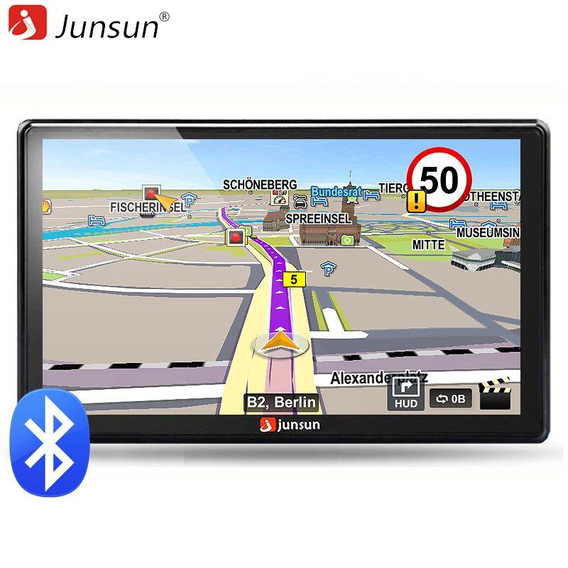 Junsun 7 inch HD Car GPS Navigation Bluetooth AVIN Capacitive screen FM 8GB/256MB Car avan Vehicle Truck GPS Europe Sat nav
