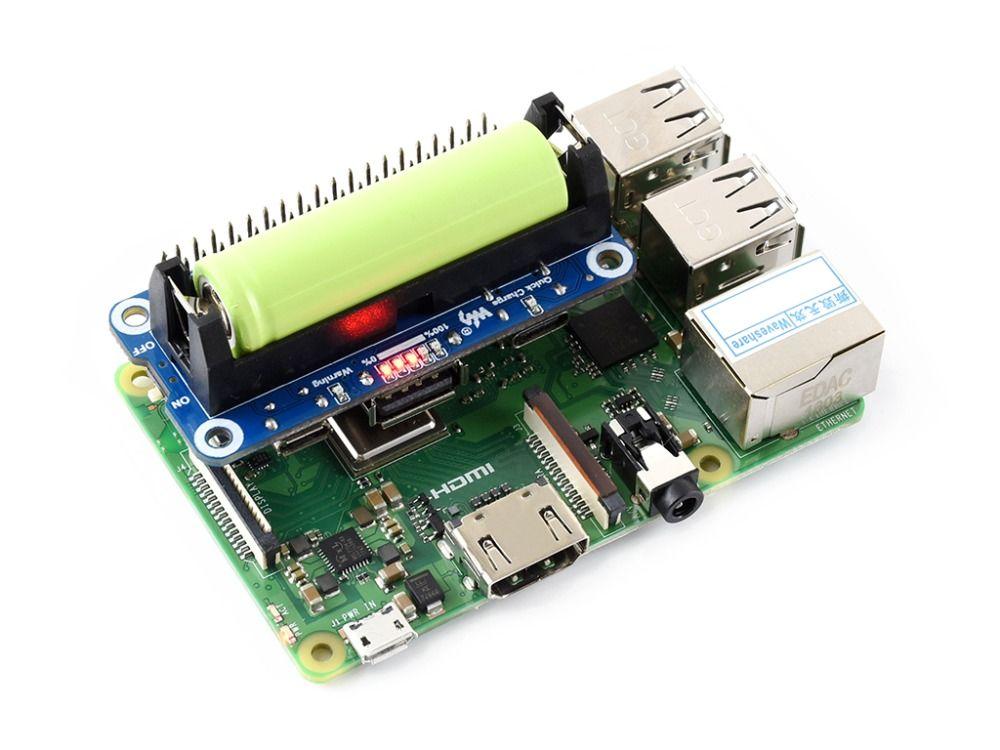 Waveshare Raspberry Pi Li-Ion Batterie HUT, 5 v Geregelte Ausgangs, Bi-directional Schnell Ladung