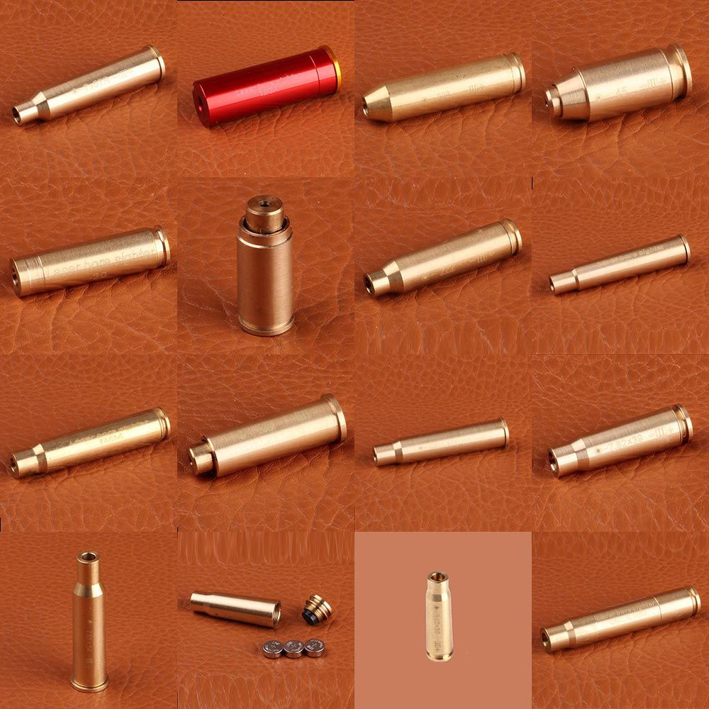 Ohhunt Jagd Bore Sighter Cal 7.62X54R 7,62X39 7X57R 8X57JRS 9,3X62 30-300WIN 6,5X55 CAL. Cartridge Red Laser Schussprüfer