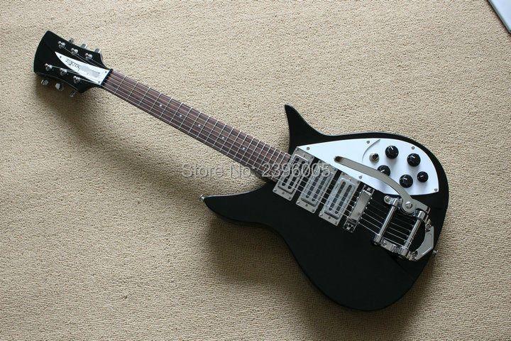 Custom shop hot sale classical Ricken 325''63 black color korea hardware 3 wax humbucker pickups backer Adolph electric guitar