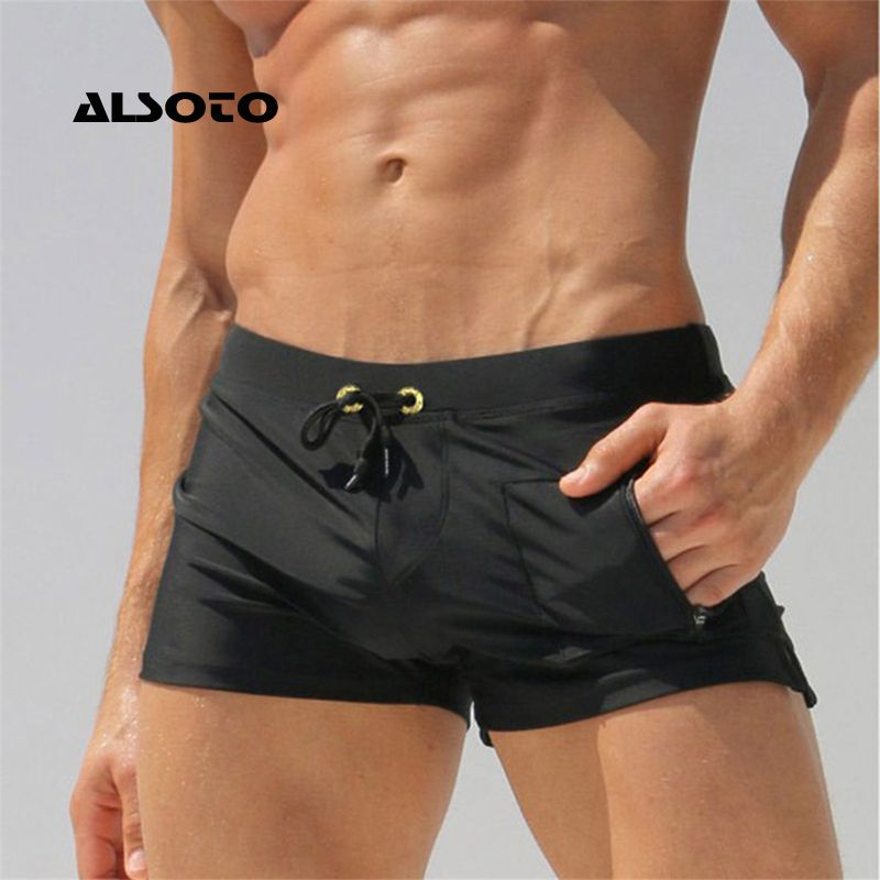 ALSOTO Sexy homme maillots de bain hommes maillots de bain maillots de bain Sunga chaud hommes maillots de bain Shorts de plage Mayo Sunga maillots de bain pochette Gay