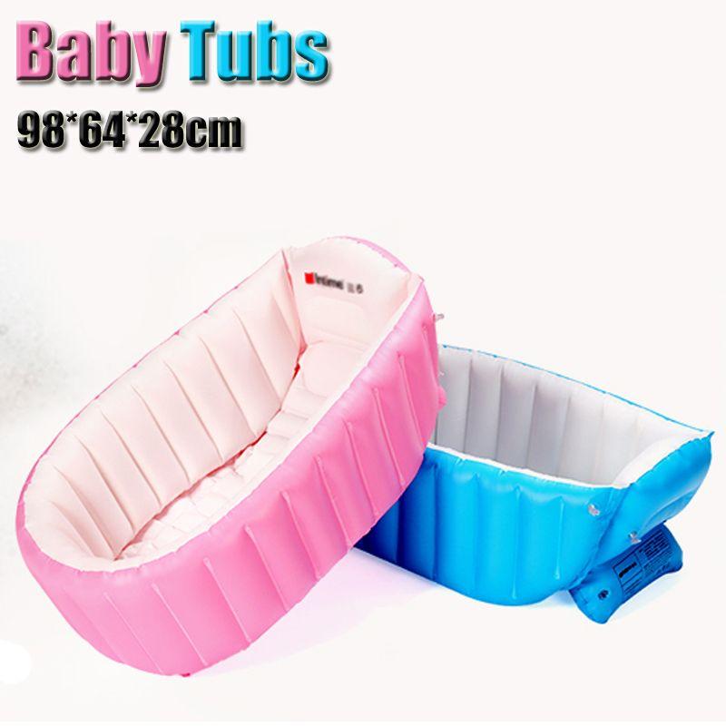 Portátil Inflable Del Baño Del Bebé Niños Niños Niños Bañera Lavabo Bañera Plegable Engrosamiento Piscina Del Bebé