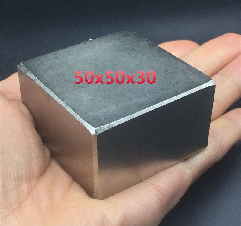 1pcs Block 50x50x30 mm Super Strong high quality Rare Earth magnets powerful Neodymium Magnet 50*50*30 mm square BIG