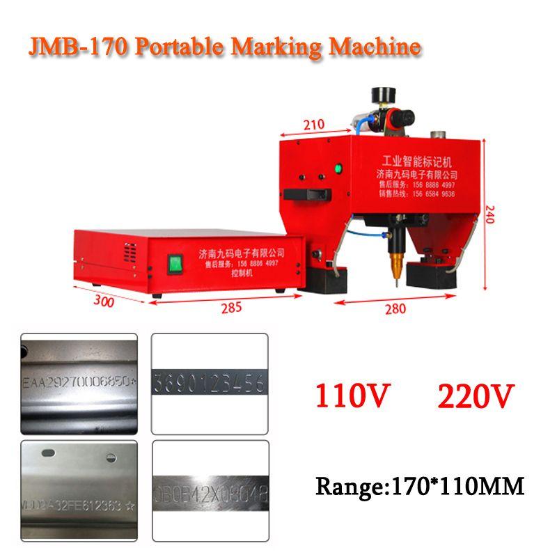 JMB-170 Tragbare Kennzeichnung Maschine Für VIN Code, Pneumatische Dot Peen Kennzeichnung Maschine 110/220 V 200 W