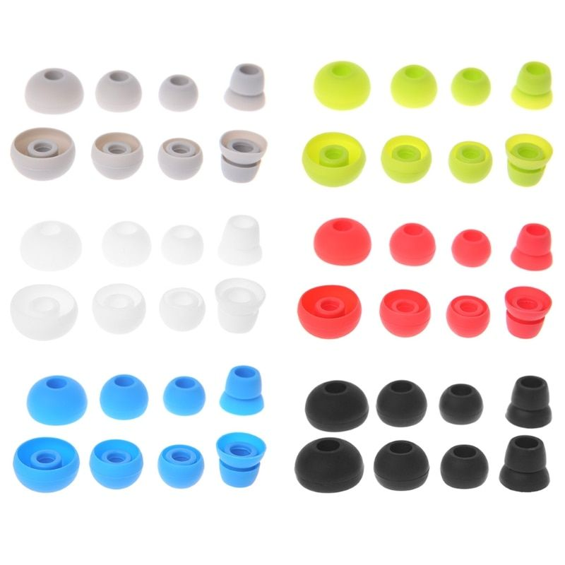 4 Pairs Silicone Earbud Tips Replace For Beats Powerbeats 2/3 Wireless Headphone