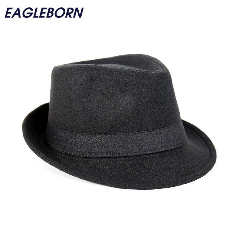 Livraison gratuite large bord hommes Fedora chapeaux Jazz casquettes chapeau haut de forme gorras casquette Style bref chapeau chapeu