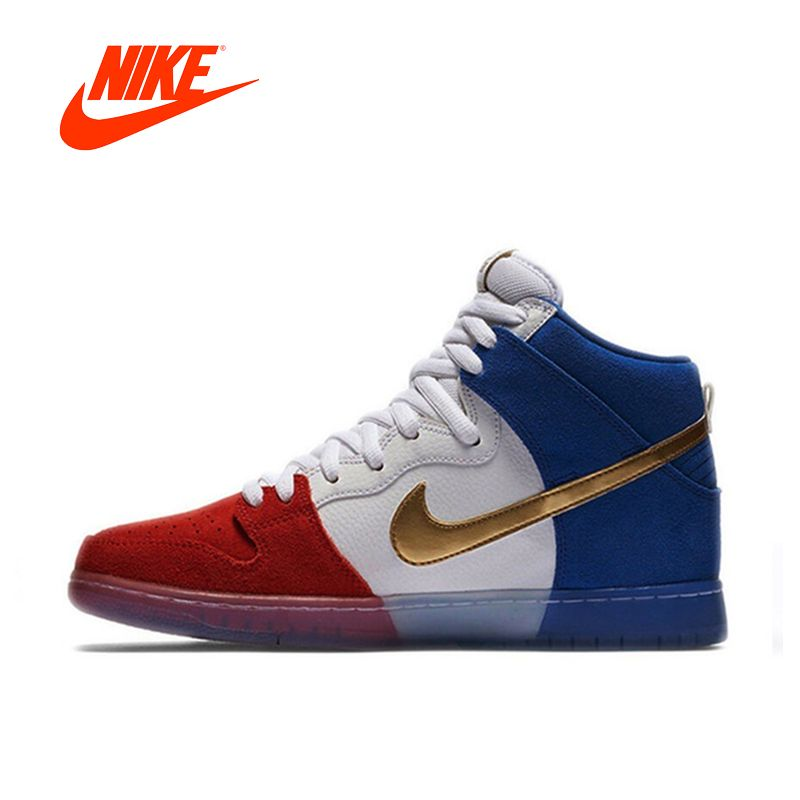 Original New Arrival Official Nike Dunk High Premium SB Men's Breathable Hard-wearing Skateboarding Shoes Sports Sneakers