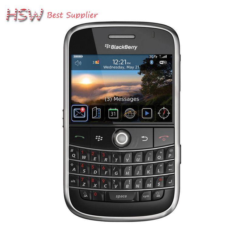 Vente directe 100% Original débloqué 9000 Original Blackberry Bold 9000 téléphone portable GPS WIFI 3G téléphone portable remis à neuf