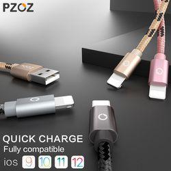 PZOZ usb câble pour iphone câble 8 7 6 plus 6 s 5 5S se X ipad 2 mini rapide de charge câbles mobile téléphone chargeur cordon adaptateur de données