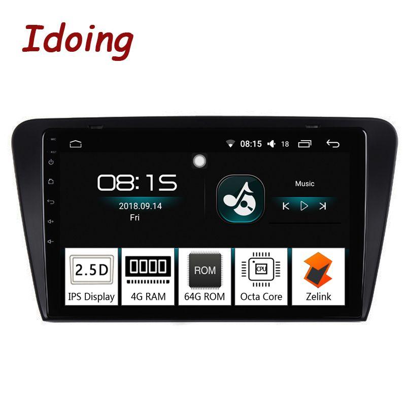 Idoing 10,2 IPS 2.5D 4 gb + 64 gb 1 Din Android 8.0 Auto Radio Multimedia GPS-Player Für Skoda octavia 2017 8 Core Schnelle Boot NoDVD