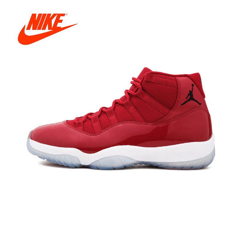 NIKE Rot Komfortable Durable Basketball Schuhe Nike Air Jordan 11 Retro herren Sneakers Sport AJ11