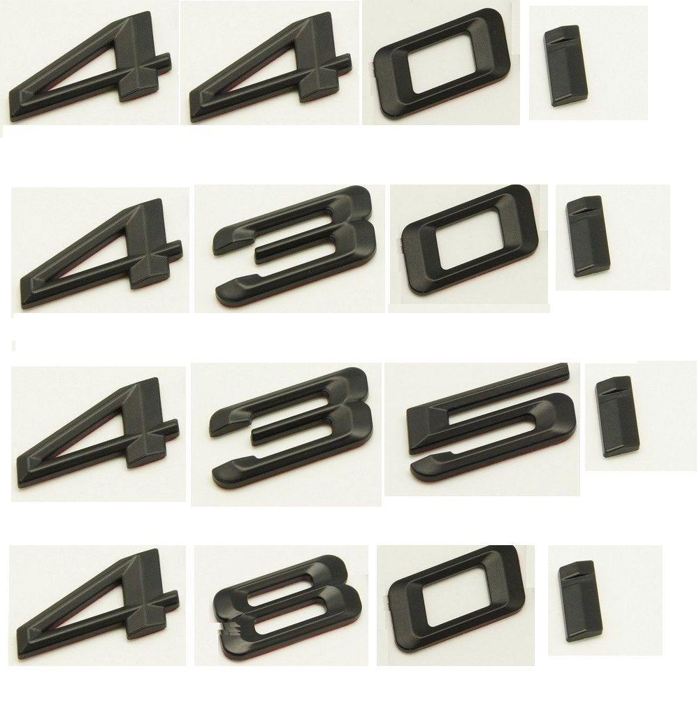 Matte Black ABS Number Letters Word Car Trunk Badge Emblem Emblems for BMW 4 Series 420i 428u 430i 440i 435i 450i 480i