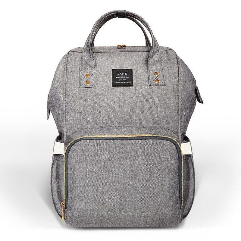LAND Nappy Diaper Bag Drop shipping Large Capacity Baby Bag Travel Backpack Desiger Nursing Bag for Baby Care Hooks Change pad