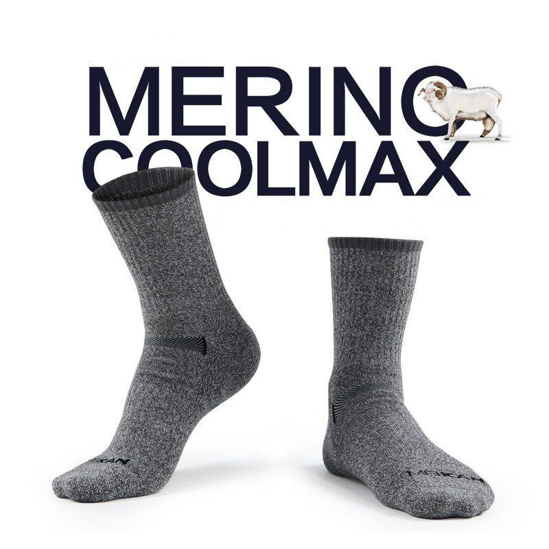 High quality Gift package Mens Merino wool terry socks quick-drying coolmax Socks thick winter warm socks
