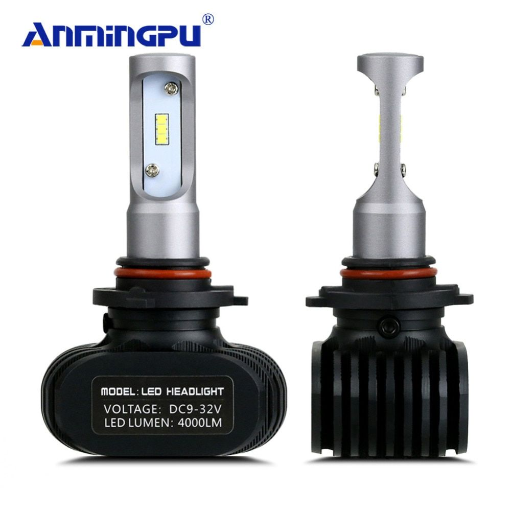 ANMINGPU 8000LM/Set Car Light Fanless 12V Headlight Blubs LED H7 H4 LED Bulbs H8 H11 9005 9006 H1 H3 9012 H13 9004 Headlight
