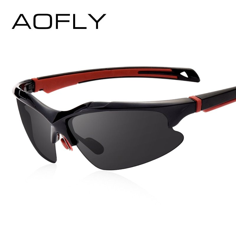 AOFLY Retro Medio Marco Gafas de Sol Polarizadas Gafas de Sol de Conducción para Hombres Gafas Clásico Diseñador Sombras de la Marca Oculos UV400 AF8040