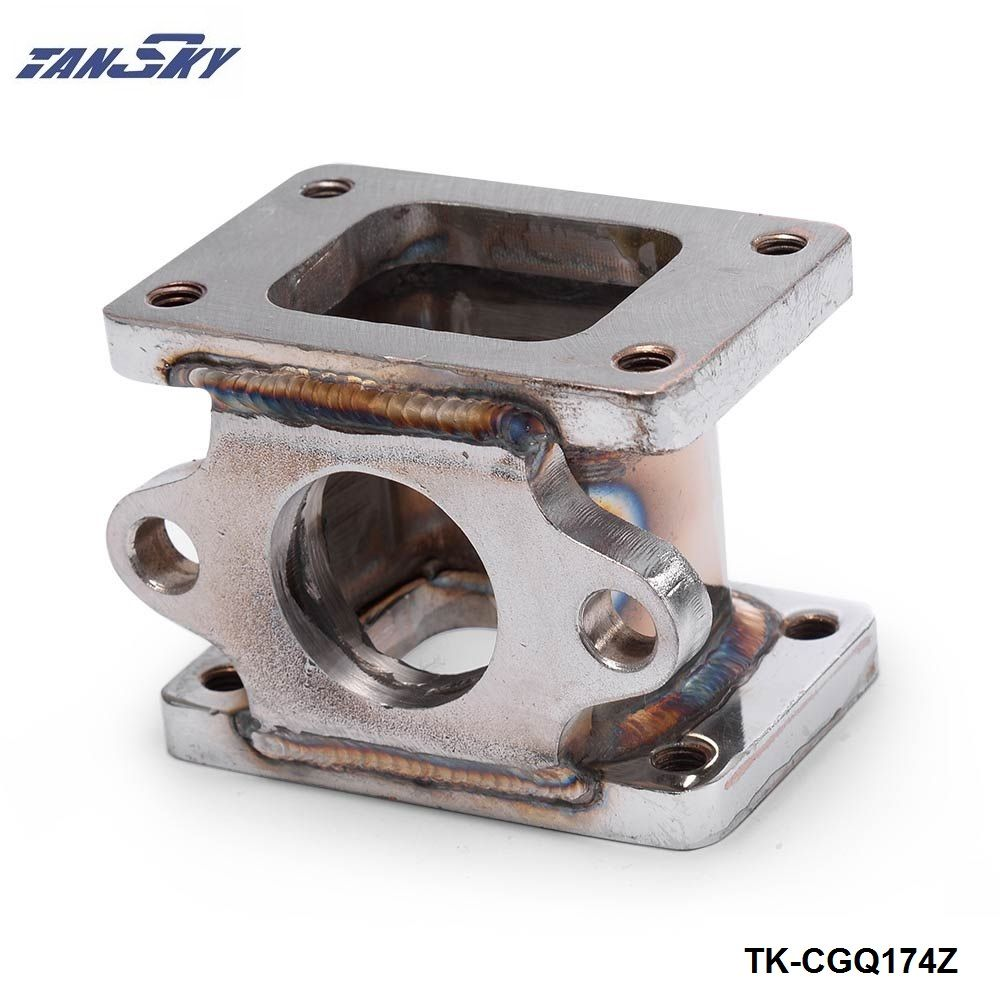 T25 to T25, T2 to T2 3 Stainless steel 304 Turbo Manifold Adapter +38MM Wastegate Flange Outle TK-CGQ174Z