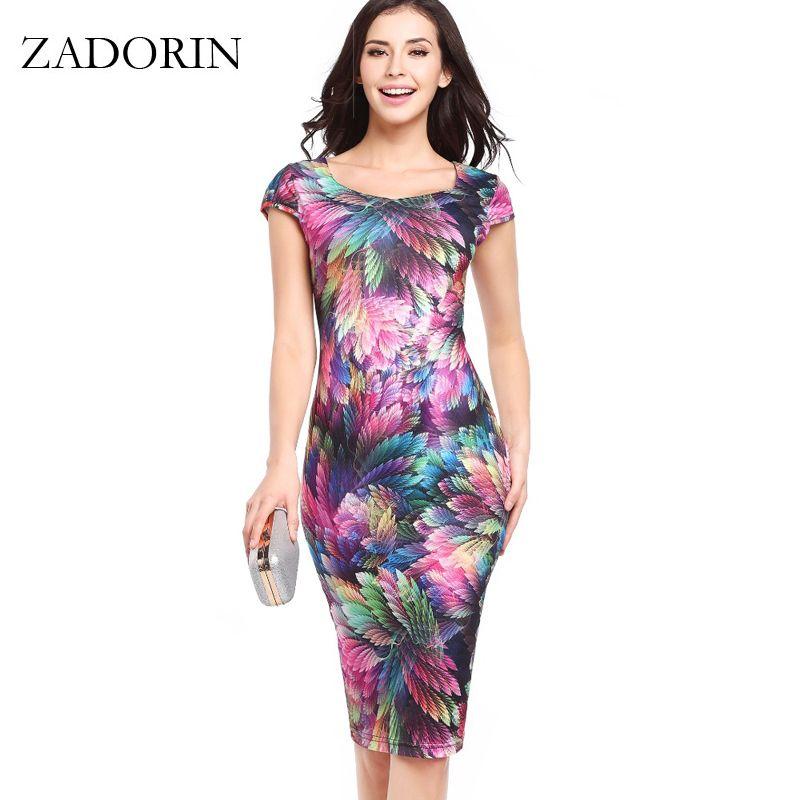 2019 rétro été robe femmes Floral moulante robe crayon élégant à pois robes de soirée femmes vêtements dames jurken vestidos