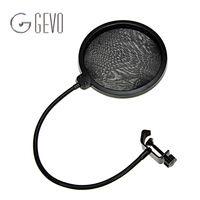 Двойной Слои Поп фильтр MPF-6 черный 6-inch зажим на микрофон Микрофон для конденсаторный микрофон студия Запись спрей защита караоке