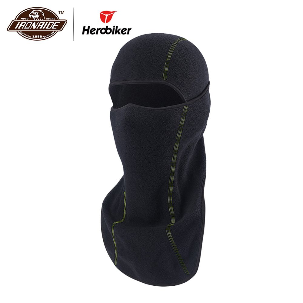 HEROBIKER Motorcycle Face Mask Shawl Autumn Winter Thermal Fleece Face Shield Mask Moto Balaclava Windproof Cycling Ski Scarf